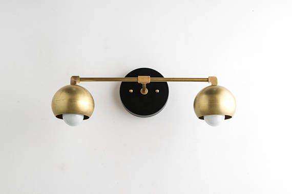 Gold Vanity Lights Bathroom Lamp Mid Century Bathroom Brass