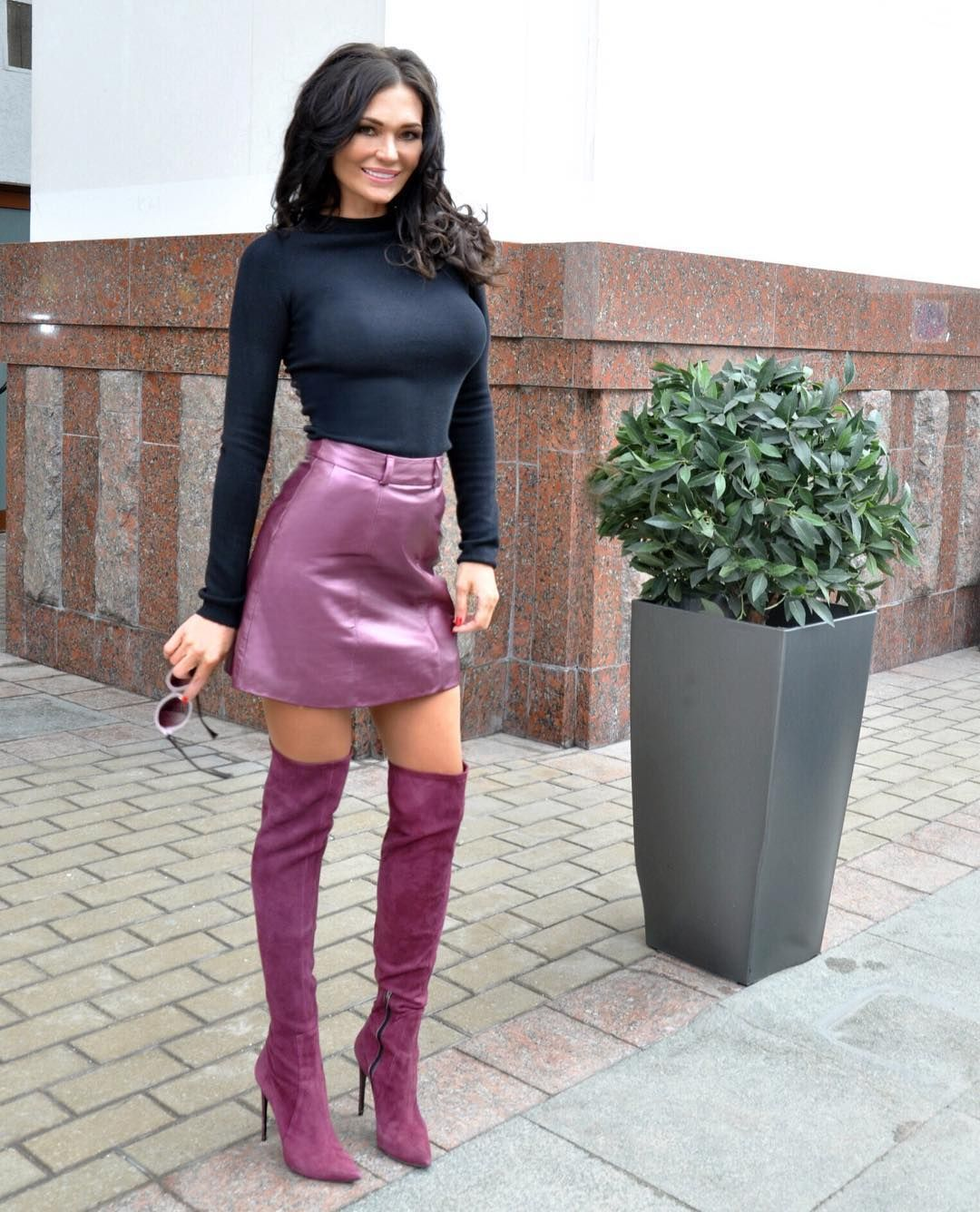 leather mini skirt heels Stunning! What To Wear with Leather Mini Skirt | Modolls