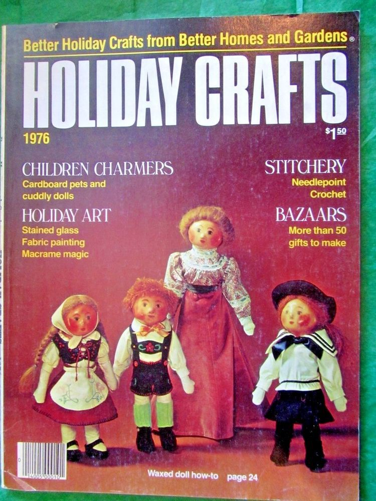 1976 BETTER HOMES & GARDENS HOLIDAY CRAFTS MAGAZINE 160 pp ...