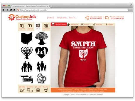 f5a774b0d Use this website to Design Your Personalized T-Shirts Online: Custom Ink  dot com! With many styles and colors plus fonts and clipart to match any  event, ...