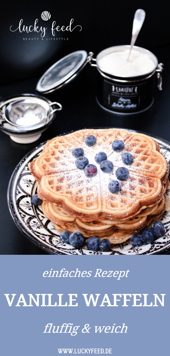 Vanille Waffeln Rezept einfach | fluffig und weich #racletteideen