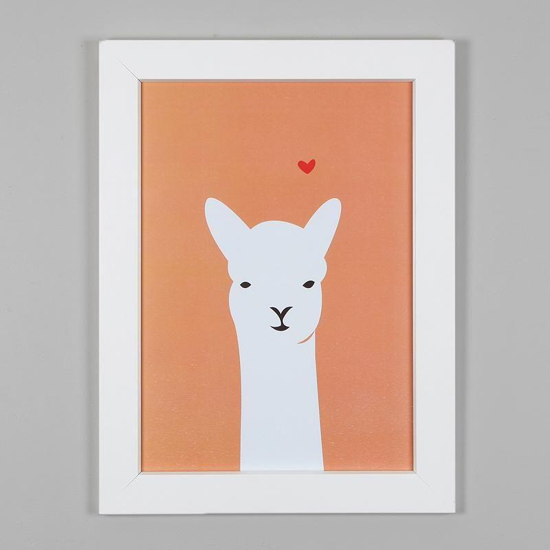 Llama Love Print by Alice Berry