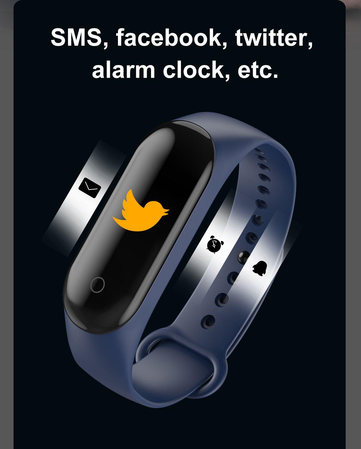 2020 sport running pedometer m4 smart wristband outoff