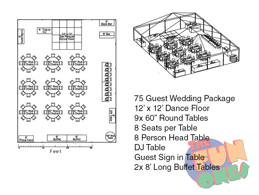 100 Person Wedding Tent