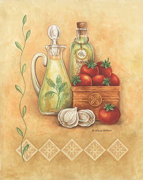 декупажные открытки для кухни можно увидеть