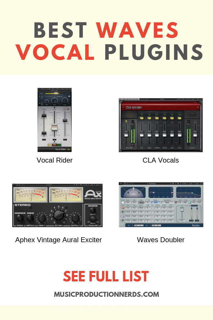 The Best Waves Plugins For Vocals Help Get Your Vocal Tracks Sounding Great And Ready For Primetime Preferred By The Waves Plugins Music Mixing Music Software