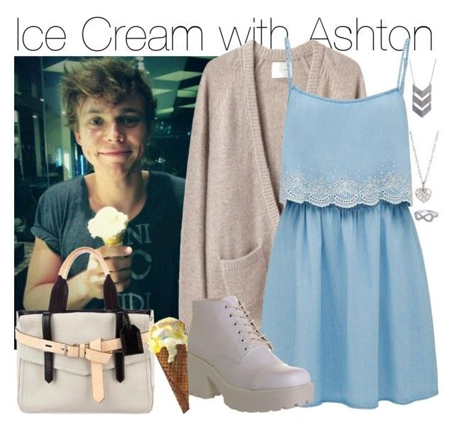 """Ice Cream with Ashton"" by fionaaaaaaaaaa99 ❤ liked on Polyvore featuring La Garçonne Moderne, Forever New, Vagabond, Reed Krakoff, Terrece Beesley, The 2 Bandits and Finn"
