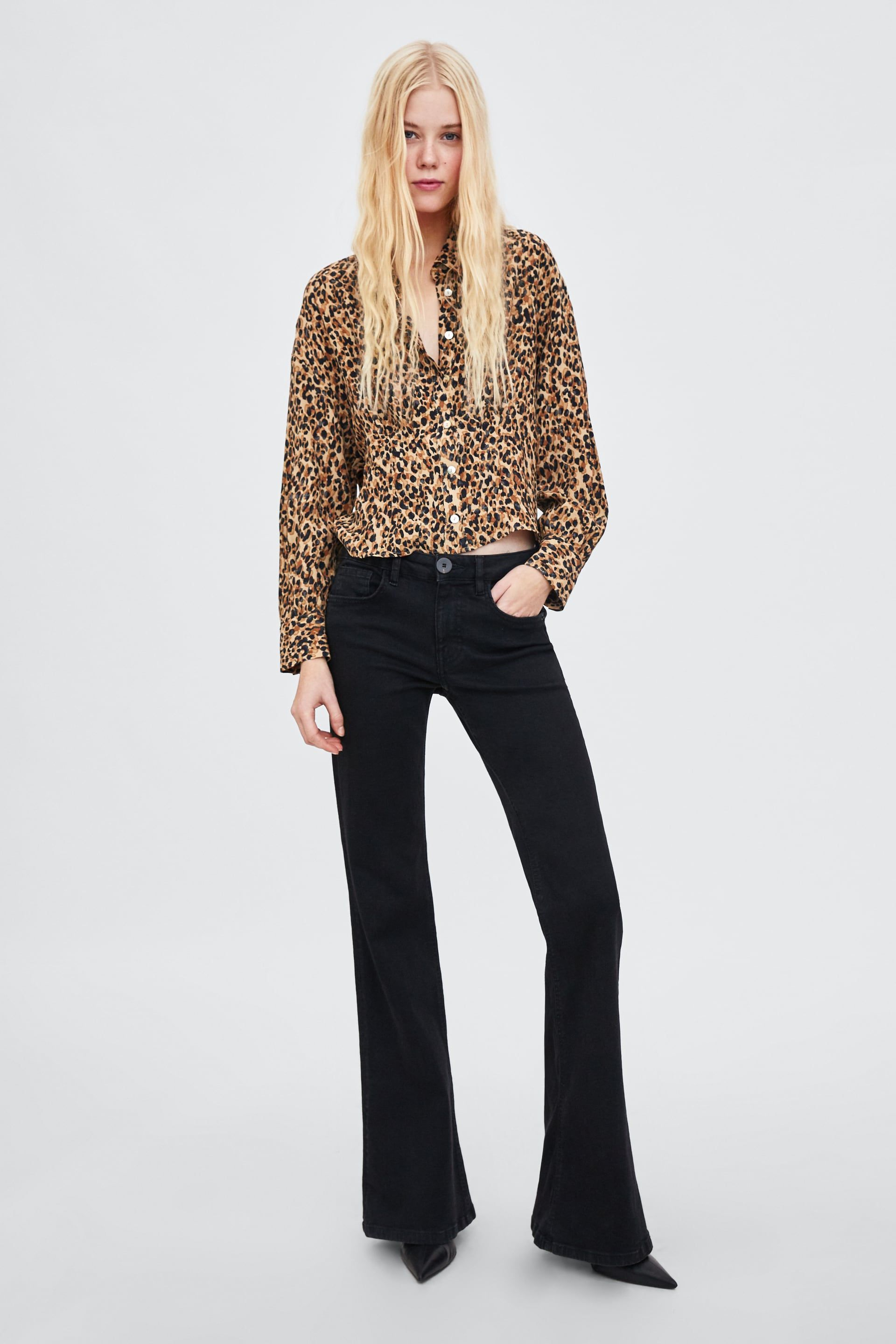 e2dd575846 Image 1 of CROPPED ANIMAL PRINT TOP from Zara   S T Y L E   Crop ...