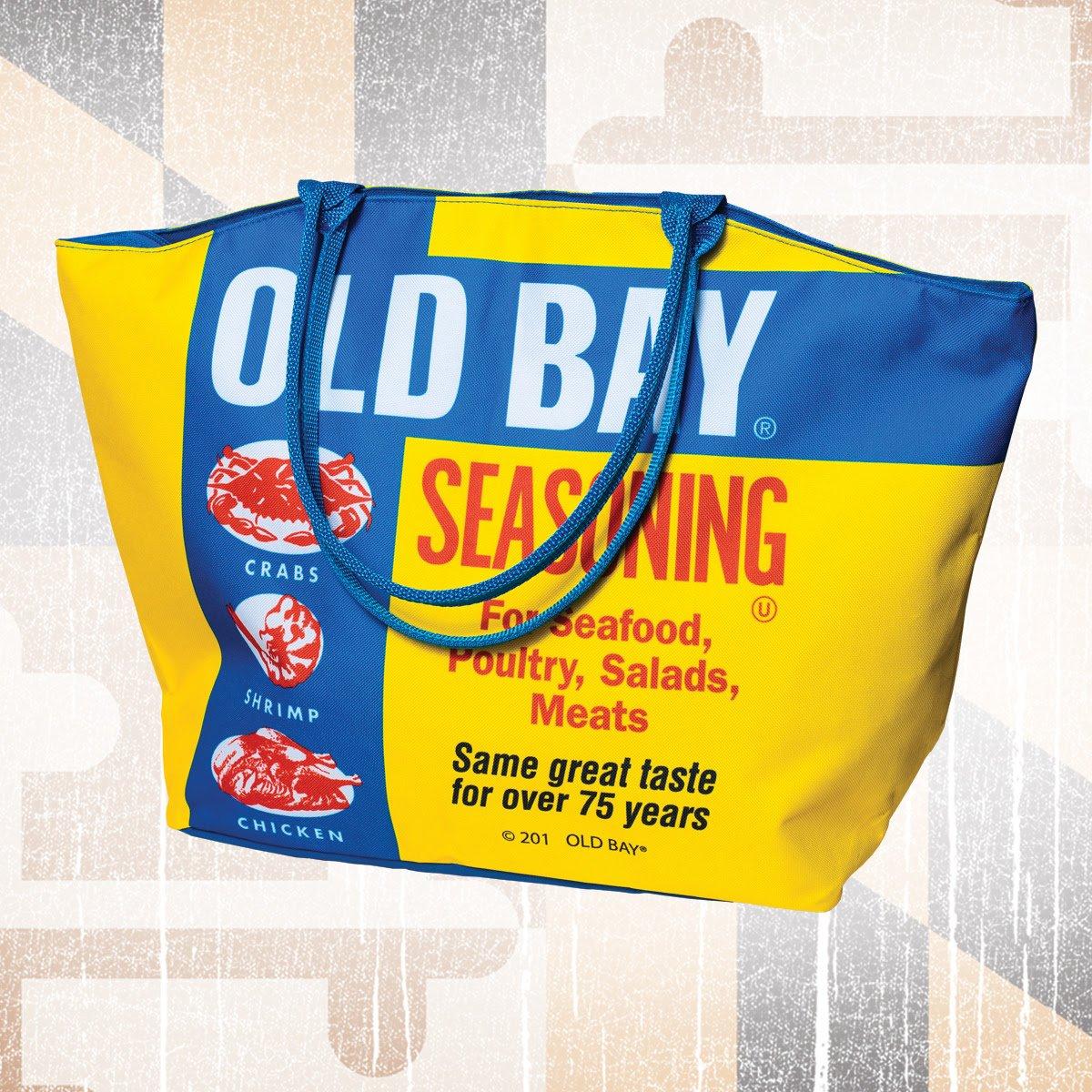 Old Bay Seafood Seasoning Faded Logo Beach Towel