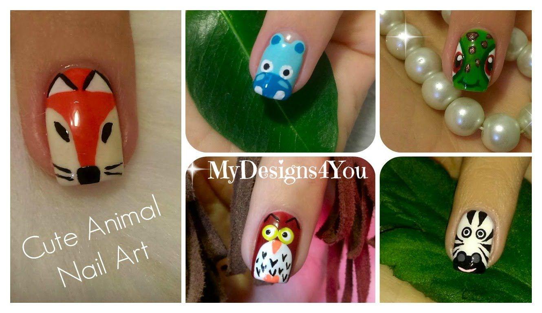 Cute Animal Nail Art Vol.2 | Diseño de Uñas-Animales 2 ♥ Дизайн ...