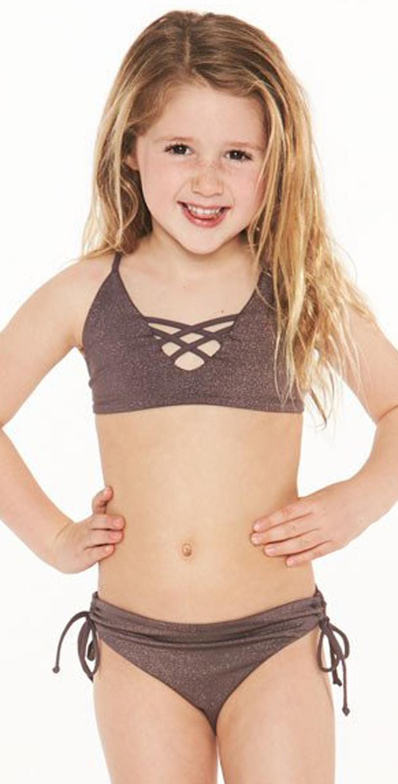 cc6624f61b L Space Little L* Shimmer Bikini in Pebble | Mini Me Swimsuits ...