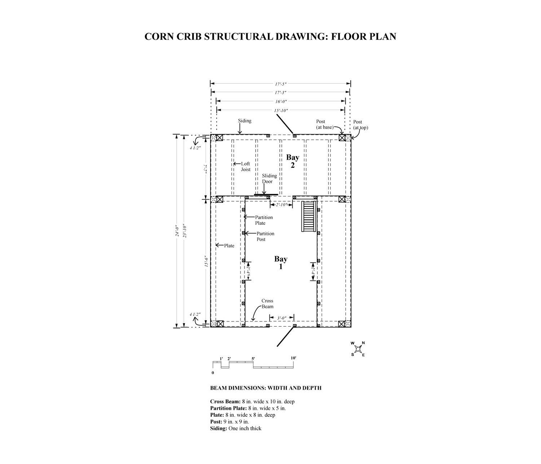 Houses From Corn Cribs | TPF - Nipmoose - Corn Crib - Dimensions ...