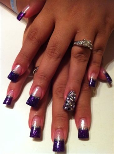 Jersey Nails Purplelicious Jersey Style Nail Art Gallery With Images Fashion Nails Nails Nail Art