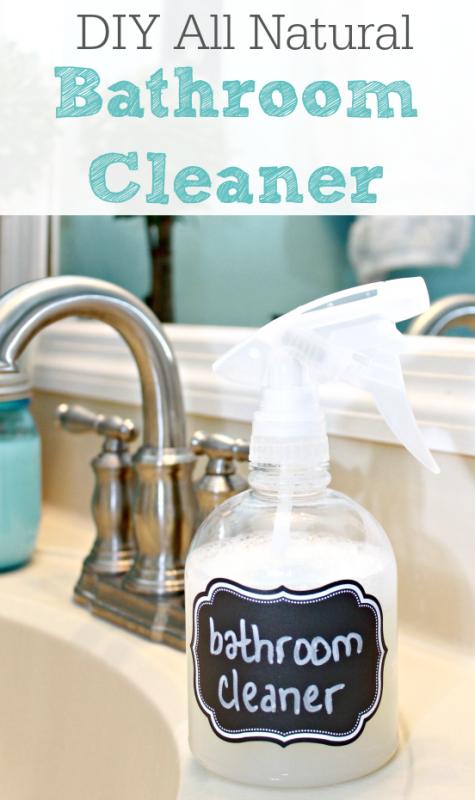DIY All Natural Bathroom Cleaner Remodelaholiccom Remodelaholic - Natural bathroom cleaner