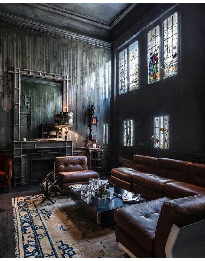 maison parisienne deco maison tapis chinois salon cuir xviie siecle ambiance