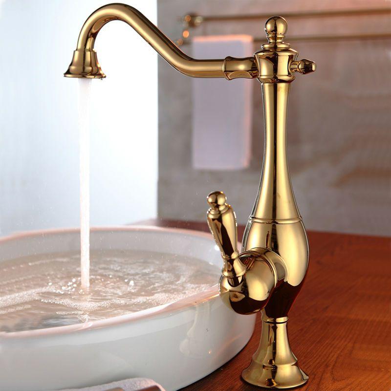 Superfaucet Copper Antique Gold Tap Gold Bathroom Faucet Vintage Hot ...
