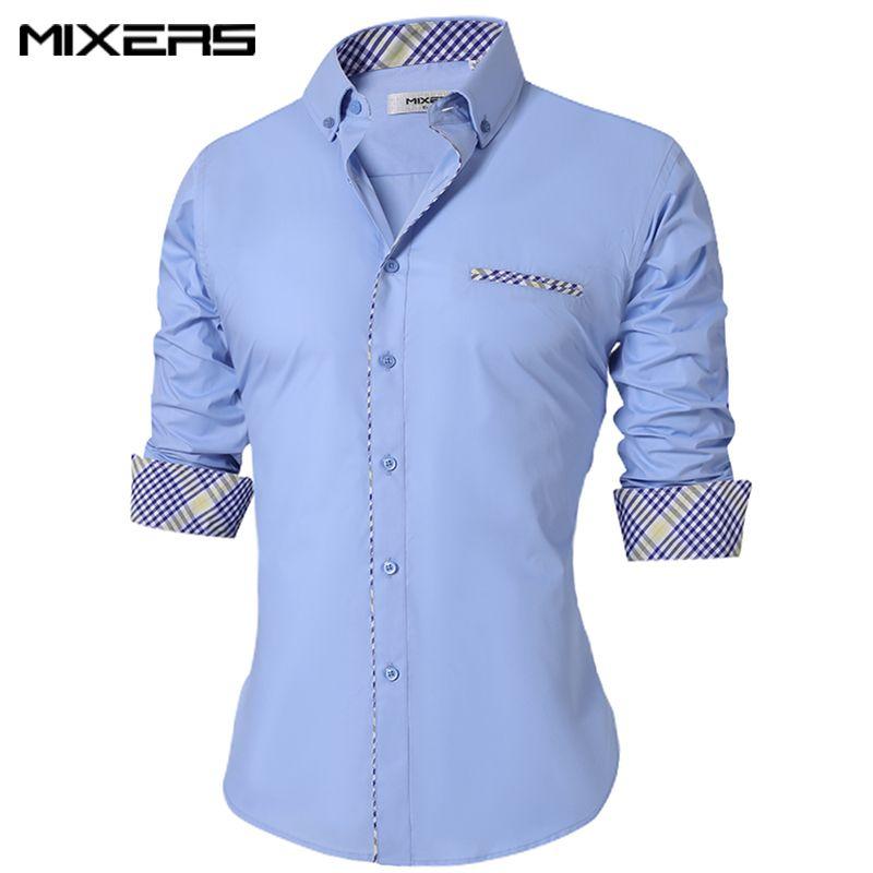 d6a87304ef1 2018 New Autumn-Winter Men s Casual Shirt Formal Office Dress Shirt Men  Long Sleeve Casual Shirts Men Brand Camisa Masculina