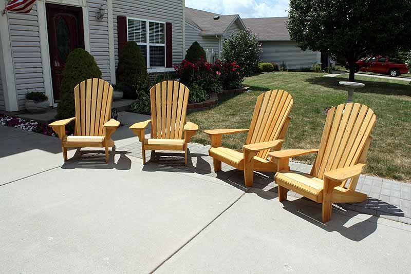 Four Adirondack Chairs That Dale And I Built Made From Cypress