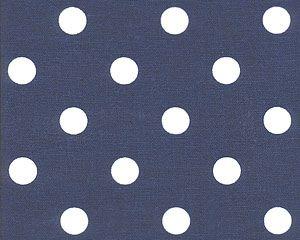 Premier Fabrics Navy Polka Dot