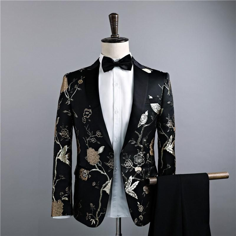 Suits & Blazers Beautiful Dj Bar Night Club Clothing Fashion Floral Printed Blazer Wedding Groom Slim Fit Casual Suit Man Jacket Singers Coat 6xl Street Price