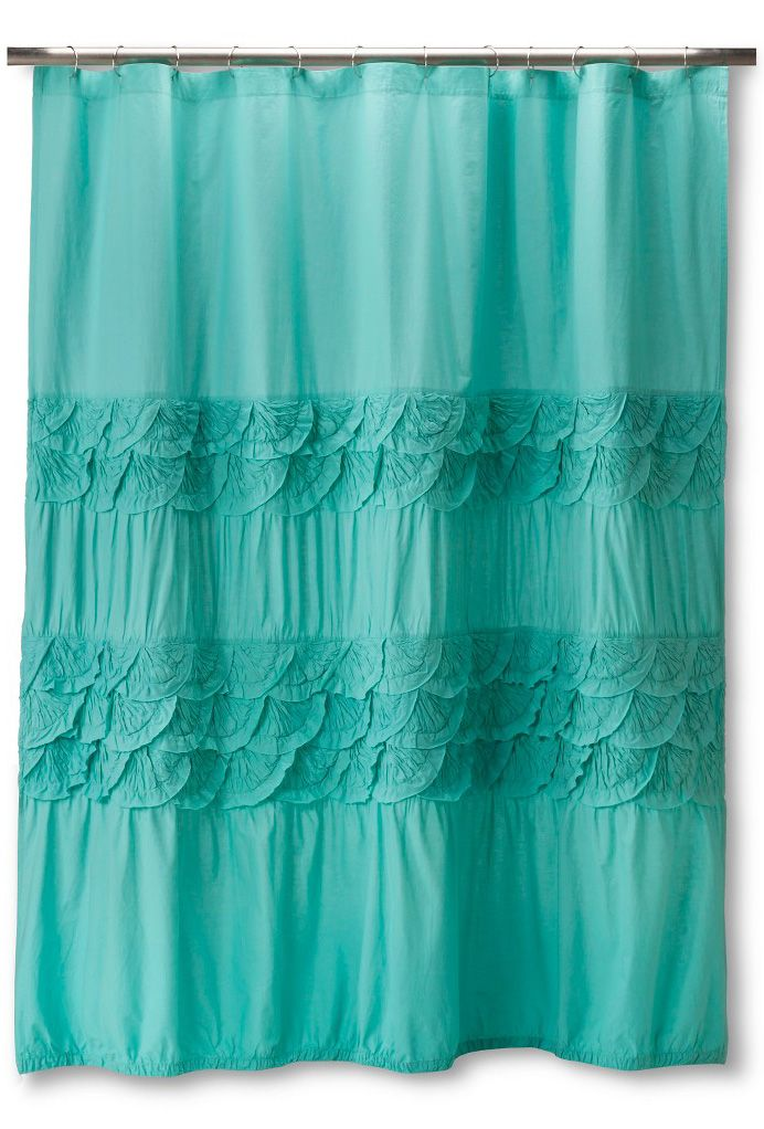 Dress Up Your Bathroom In Urban Chic With This Teal Boho Boutique Textured Shower Curtain Gently Designed Has Two Str