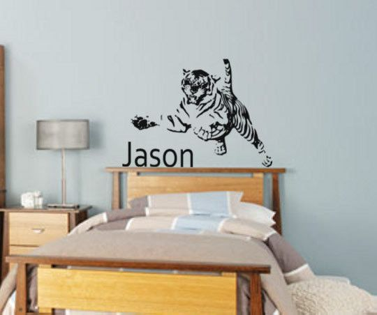 Tigertiger Decalpersonalized Decalcat Stickervinyl Wall Decal - Custom vinyl wall decals cats