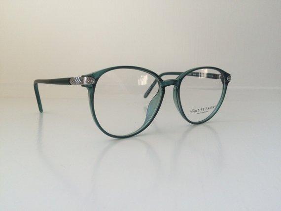 800816f8eec7 Vintage Mint Green Glasses - Oversized Cat Eyeglasses - Clear Lens Glasses  - Teal Silver Round Eyeg