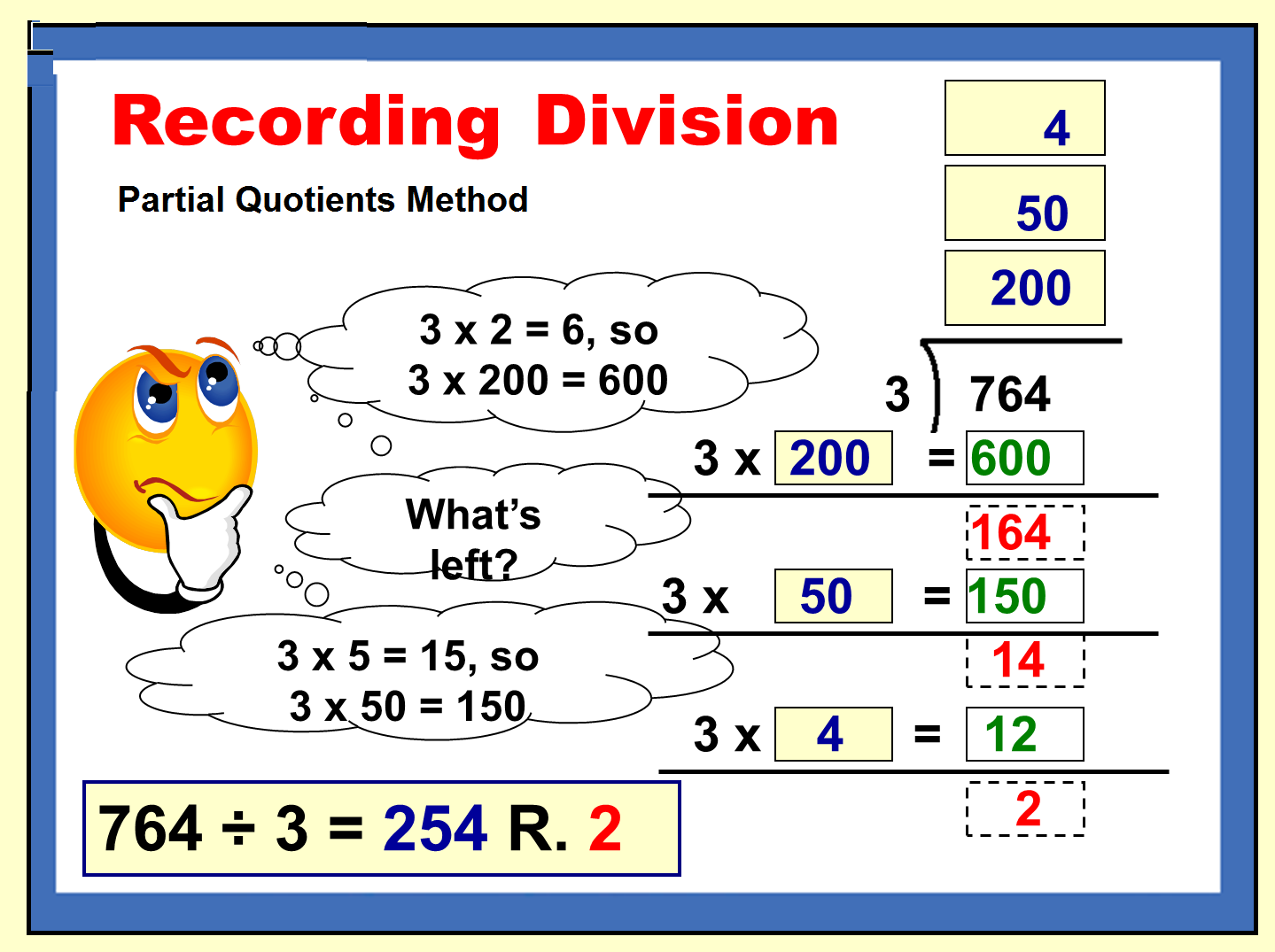 Division With Partial Quotients Is Is More The Process I Liked With The Multiplication Prob