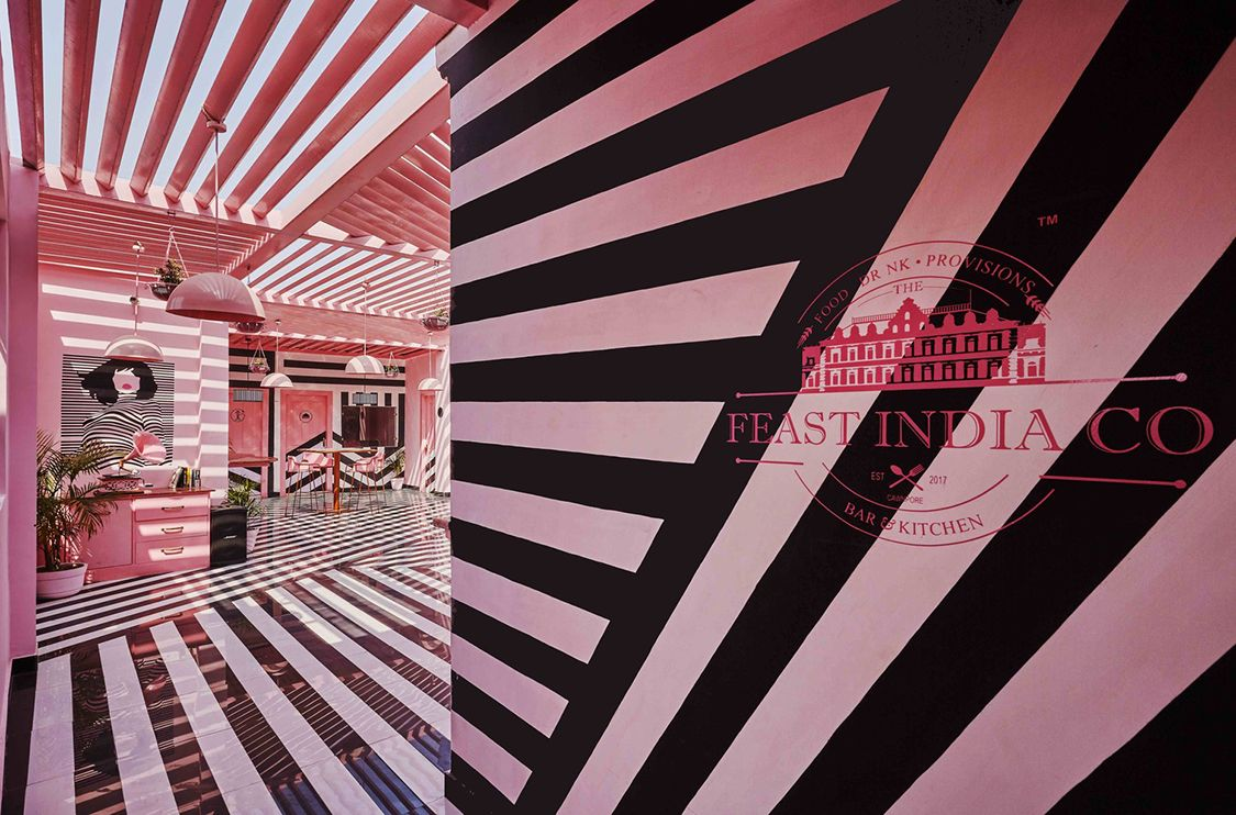 the pink zebra the feast india co kanpur india interiors rh pinterest es
