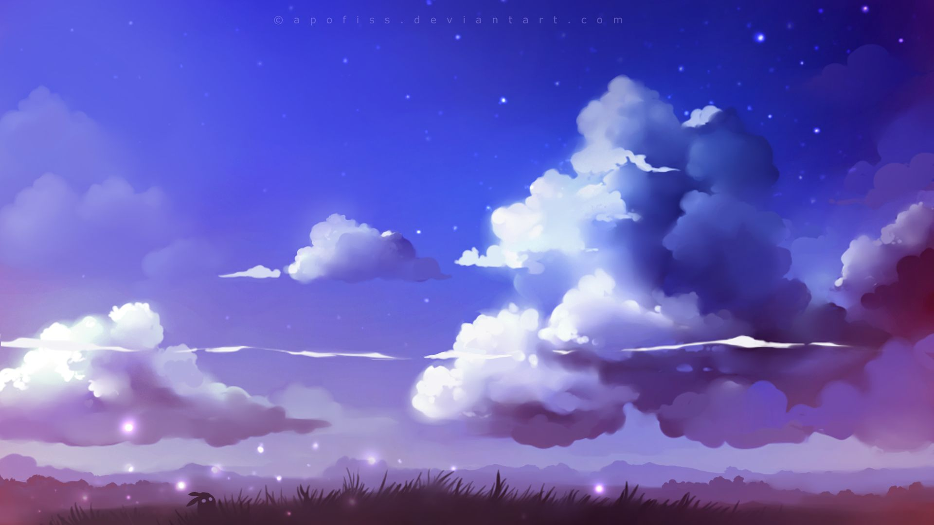 Cloud Drawing Aesthetic Anime Anime Scenery Aesthetic anime clouds wallpaper