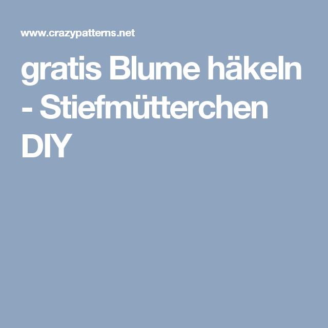 gratis Blume häkeln - Stiefmütterchen DIY | Blumen Häkeln Anleitung ...