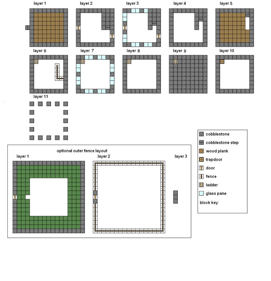 Minecraft Floorplans Medium House By Coltcoyote On