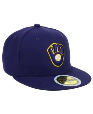 huge discount 15079 6e3ca New Era Kids  Milwaukee Brewers Authentic Collection 59FIFTY Cap - Blue 6  1 2