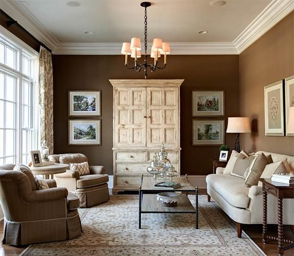Creamy White And Brown Colors Good Feng Shui For Living Room Design