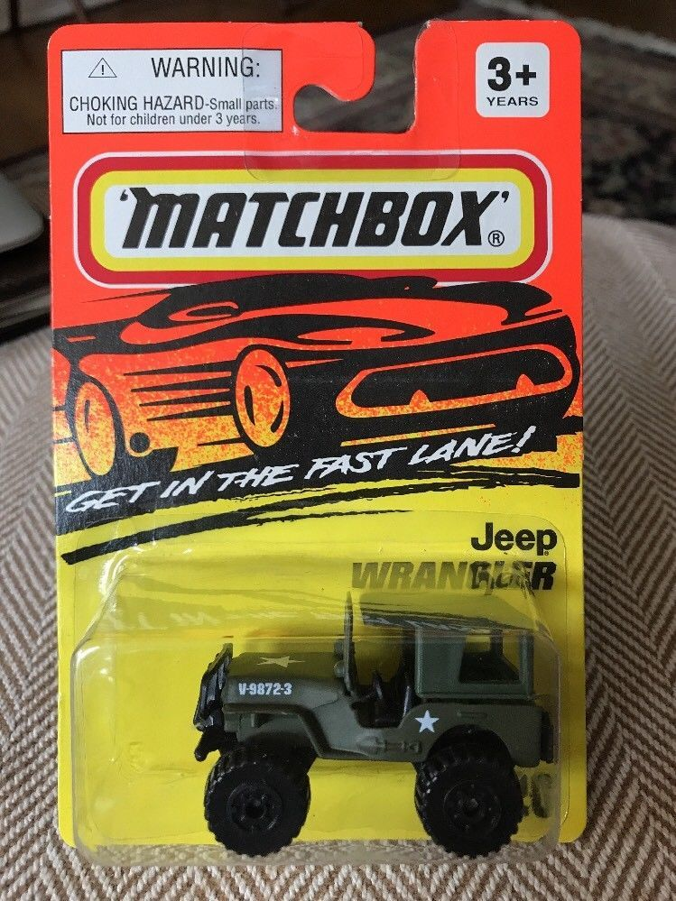 Matchbox Jeep Wrangler #20 Army Green Get in the Fast Lane