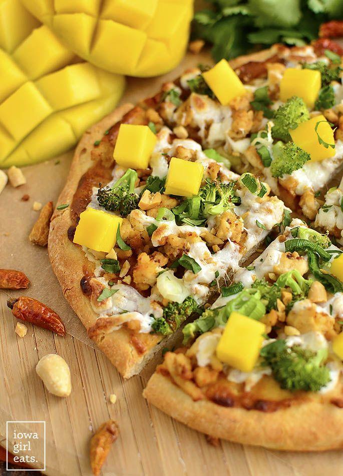 Thai Chicken Flatbread Pizza[685x951] #foodporn #food #foodie #yummy #yum #foodgasm #nomnom #delicious #recipe