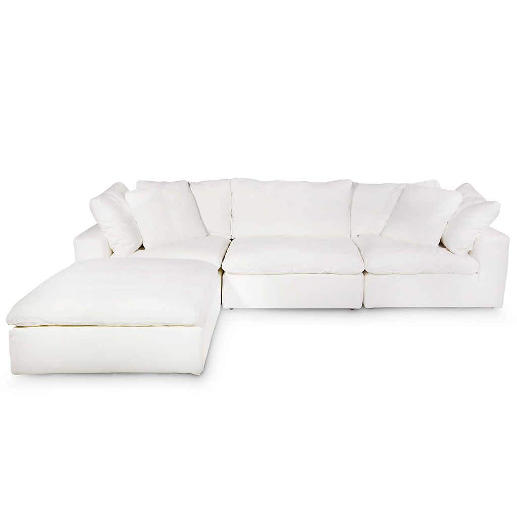 Stratus Lilly White 4 Piece Modular Sectional | Oh-so-comfy ...