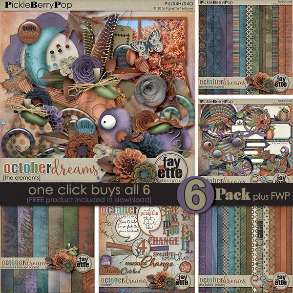 October Dreams {6-Pack plus FWP} by Fayette Designs