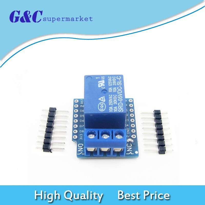 1set For Wemos D1 Mini Relay Shield One Channel For Wemos D1 Mini