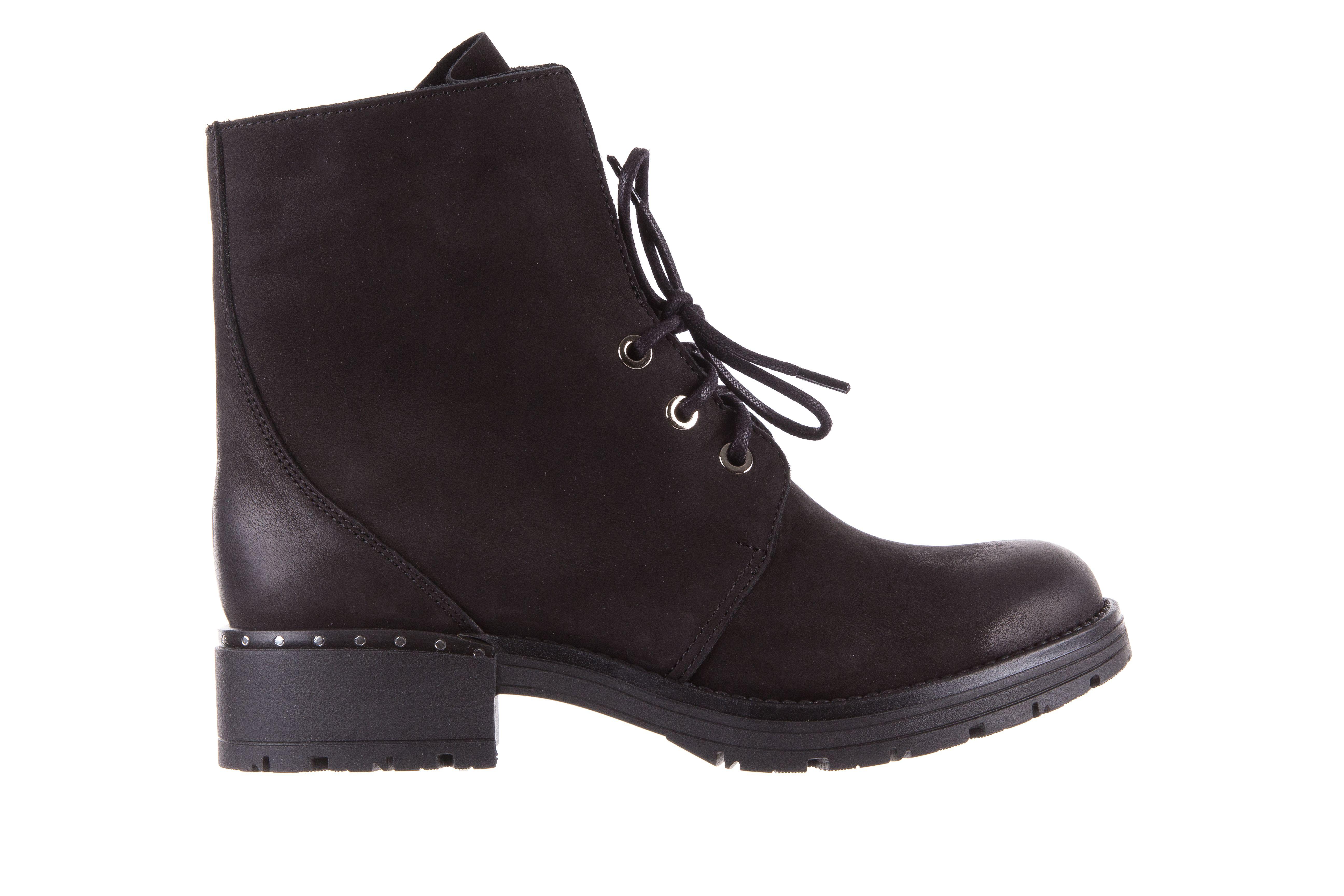 Bayla 170 2116 Czarne Trzewiki Czarne Sznurowane Trzewiki Z Naturalnej Skory Nubukowej Delikatnie Ocieplone Obcas 4 Cm Przeci Timberland Boots Shoes Boots
