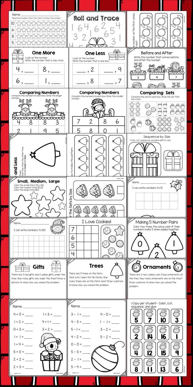 worksheet Kindergarten Common Core Math Worksheets christmas and december kindergarten math activities worksheets worksheets