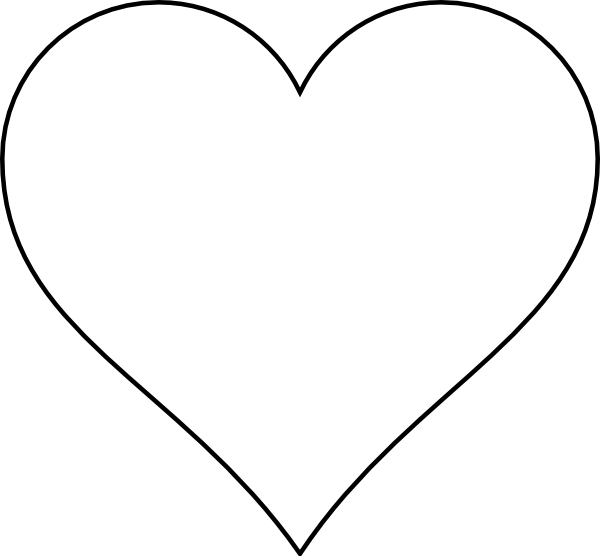 Heart shapes to print and cut out your heart on the front cut round so you have two for Haircut templates