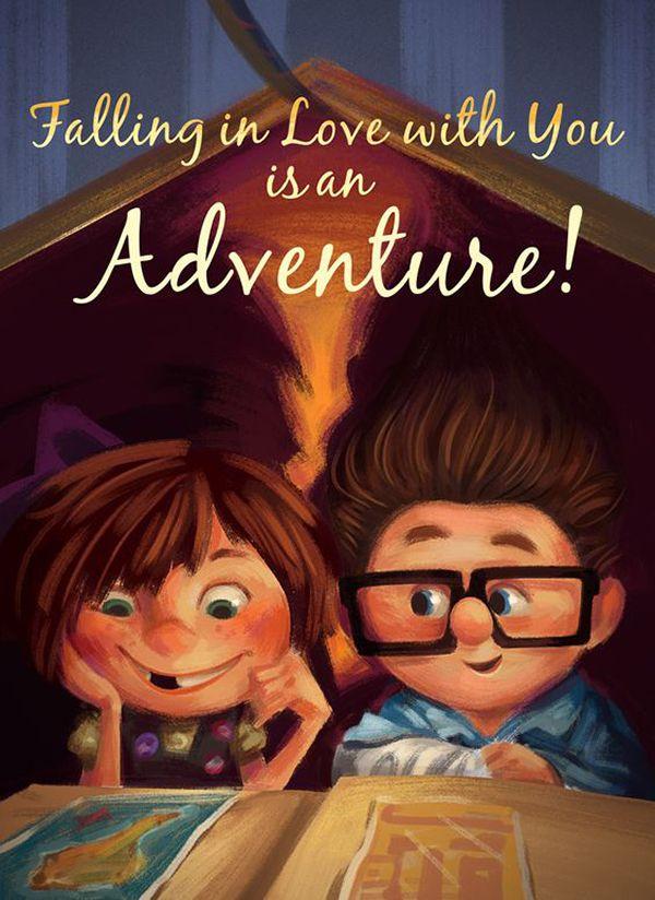 13 Disney Quotes That Will Add Magic To Your Wedding Up Altas Aventuras Personagens Disney Pixar Disney