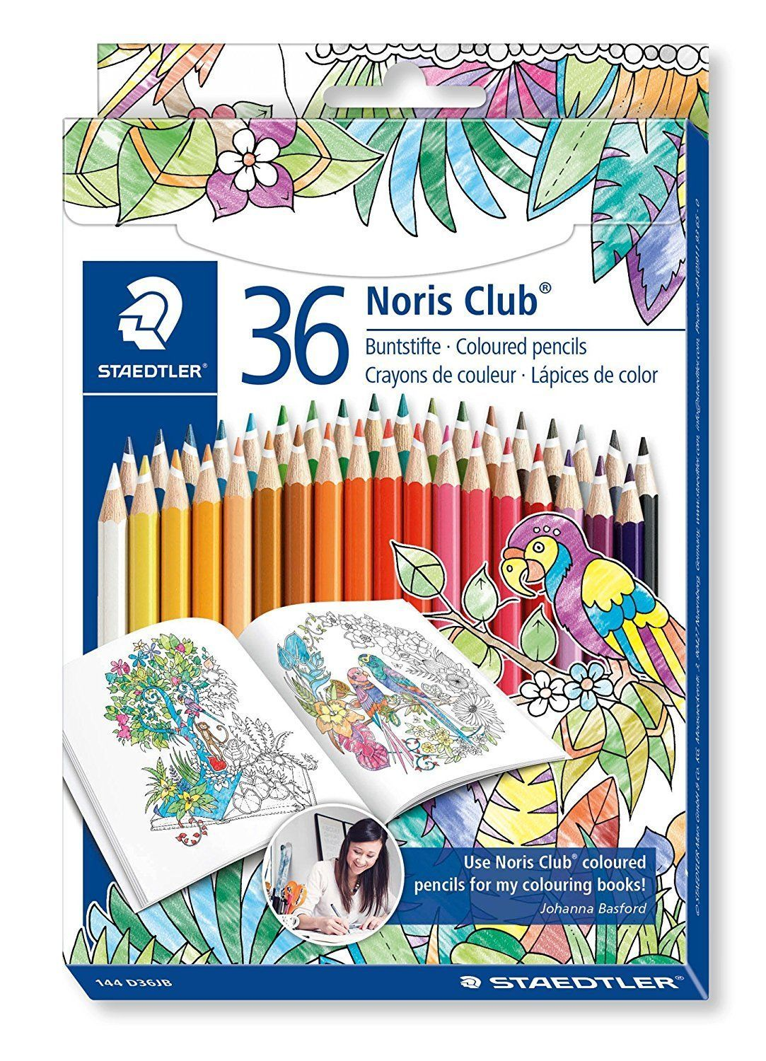 Staedtler Noris Club Coloured Pencils Set Of 36 Johanna Basford Edition 144D36Jb Ebay Home