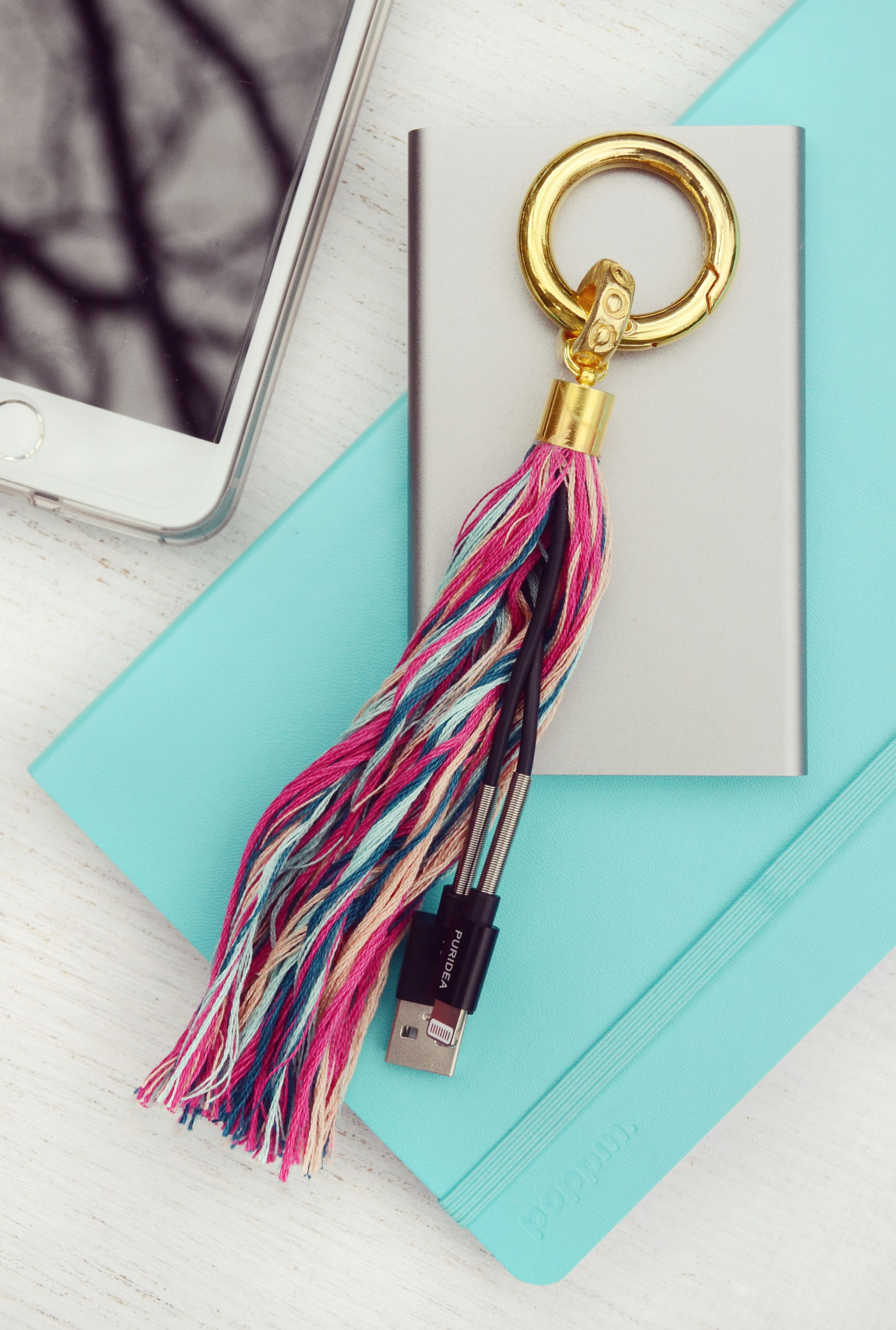 Easy Diy Phone Charging Cable Tassel Colorful Crafts By Design Fixation Diy Leather Tassel Keychain Diy Phone Diy Leather Tassel