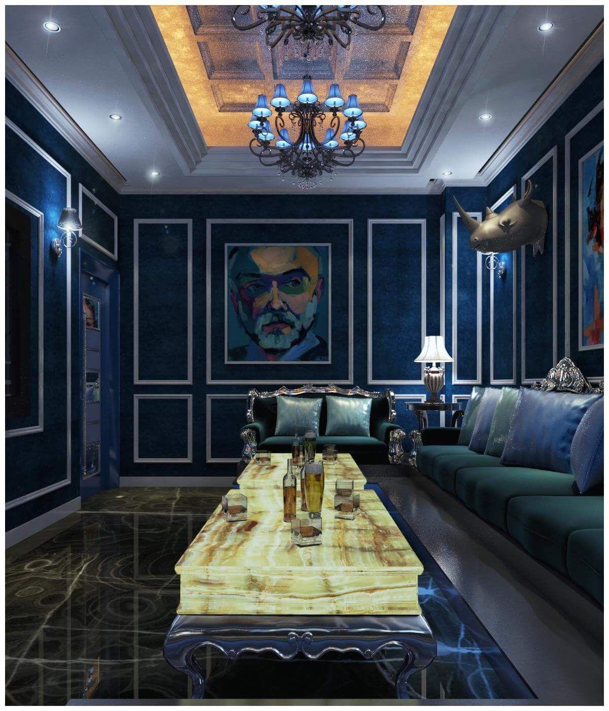 Semicircular Ktv Room Interior Design: Home Cinema Room, Karaoke Room