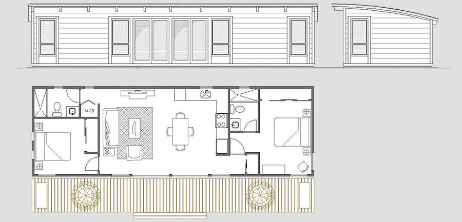 Maxwell 16x50 House Floor Plans Cabin Floor Plans Small House Plans