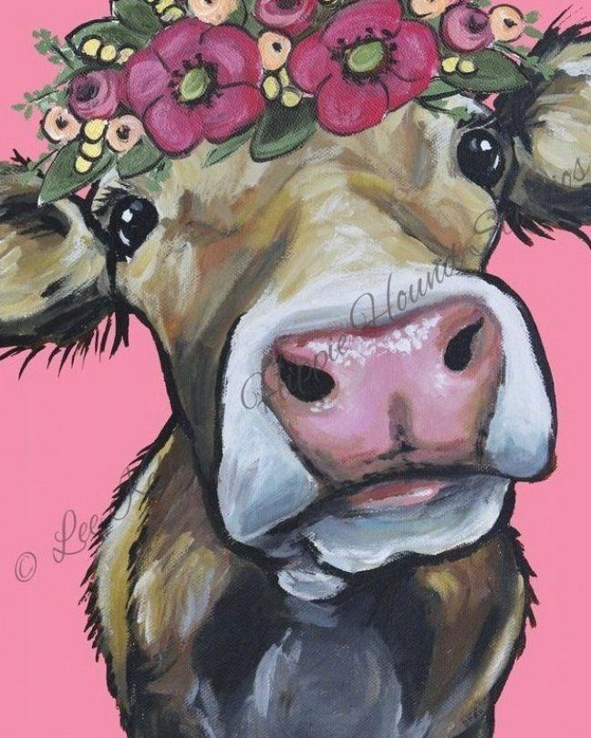 Cow Art Print from Original Canvas Cow Painting  Cow with flower crown  farmhouse     - heart -  Cow Art Print from Original Canvas Cow Painting  Cow with flower crown farmhouse  - #Art #ArtLessons #canvas #Cow #crown #Design #FamousArtists #farmhouse #flower #heart #InteriorDesign #original #painting #print