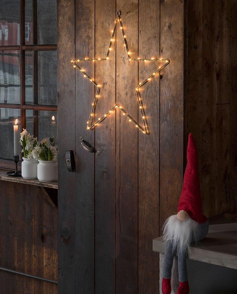 Konstsmide Weihnachtsbeleuchtung.Konstsmide Batteri Hengende Metallstjerne 1200 Gull Julebelysning