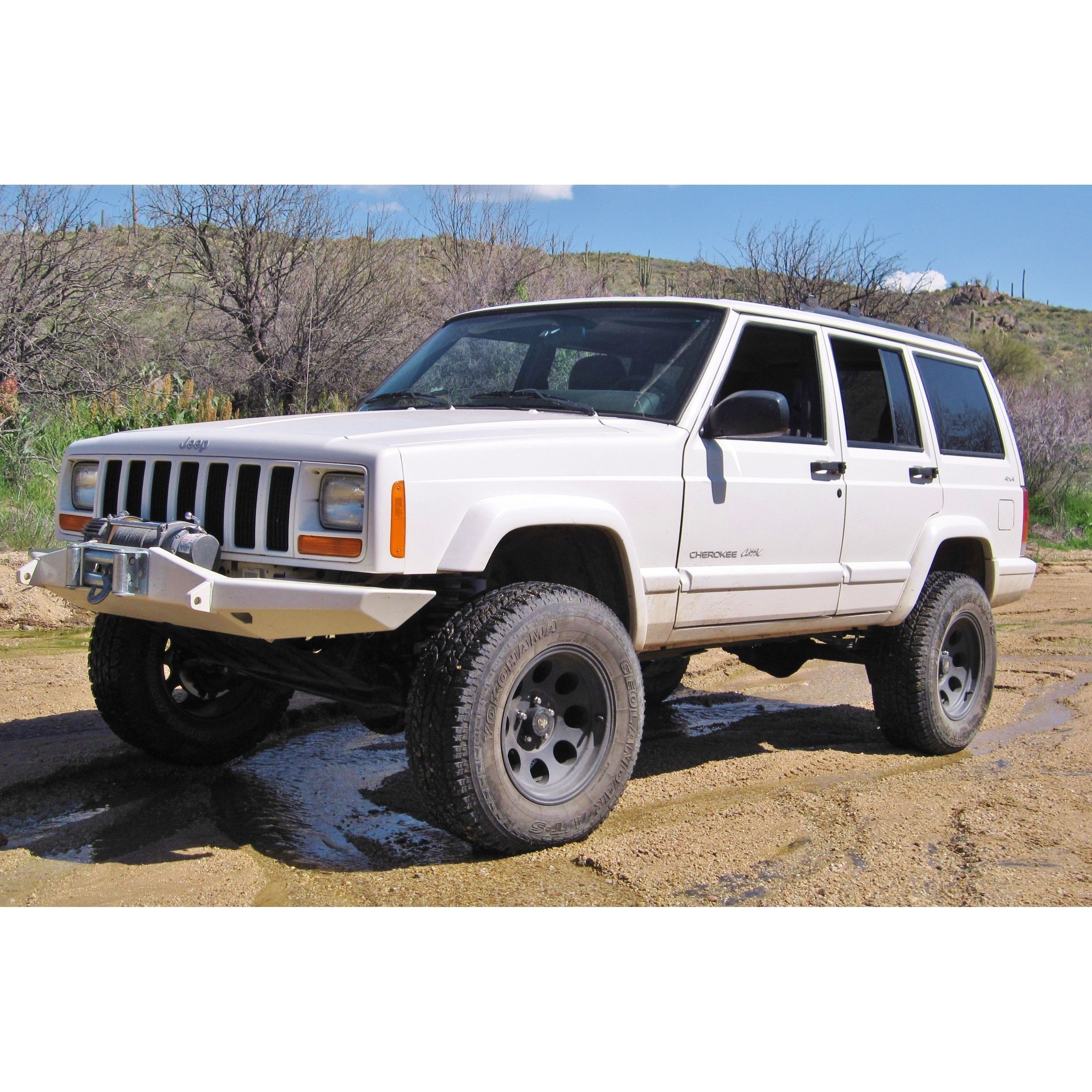 Xj Cherokee Front Bumper W O Stinger Stealth Style